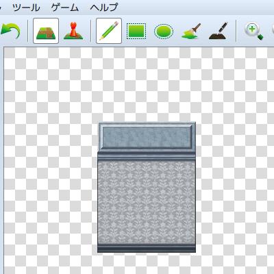 GIMPで斜め壁・斜め手すりをかんたんに作る方法1 正面タイルを作成